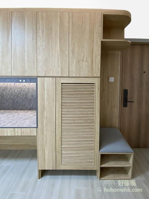 實用性與美觀兼備的玄關櫃, 百葉門鞋櫃透氣易打理