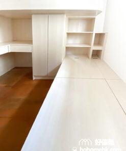 在睡房中使用圓角及暗抽門設計可減低小孩們撞傷的風險