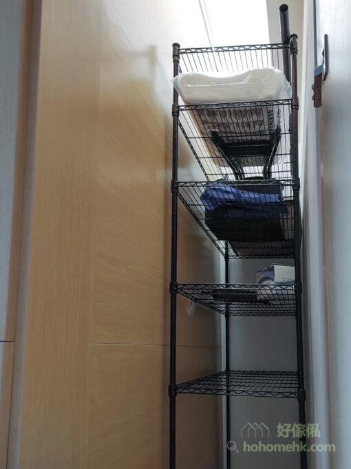 玄關的抽拉式置物架, 用盡儲物櫃深度