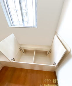 床下可以提供大容量的儲物空間,適合擺放不常用的物品,令睡房維持整潔