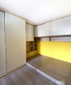 利用鮮色牆身為空間注入活力