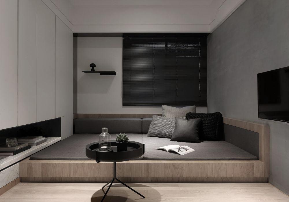 酷似日式和室的地台設計,帶有時尚年輕的感覺,備受年輕業主追捧
