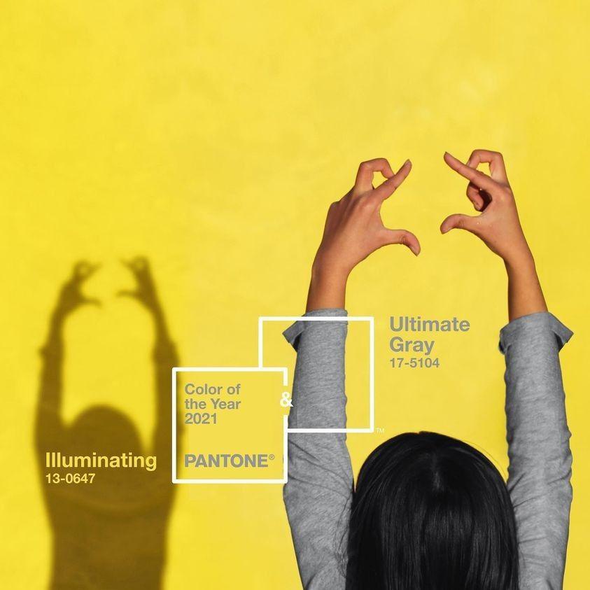 2021 Pantone Color 年度代表色 - 極緻灰及亮麗黃