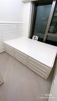 極簡主義風格睡房設計, 白色飾條展示極簡的美
