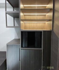 伸縮餐枱連儲物櫃