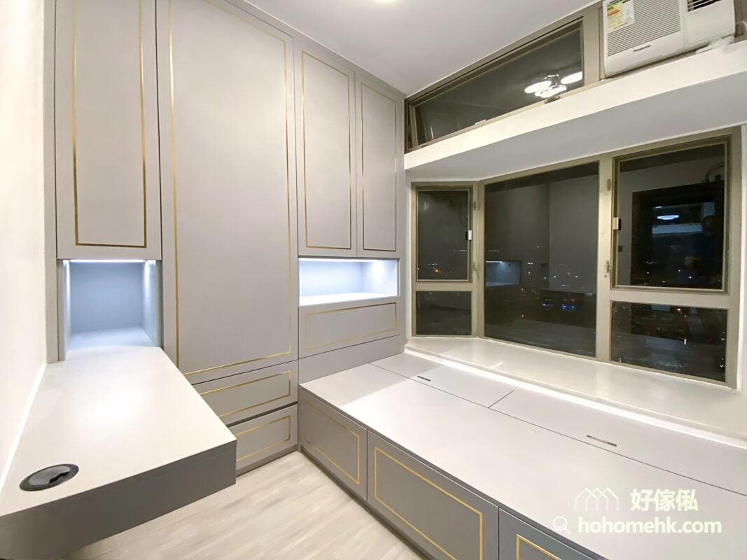 莫蘭迪色系的輕奢風睡房設計