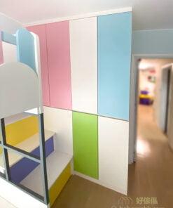 兒童房內的碌架床/屋仔床,特別造型成為小孩的歡樂小屋