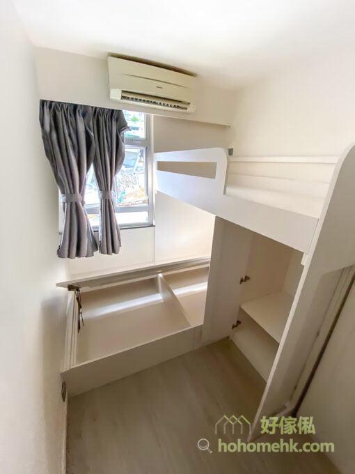 睡房的L形碌架床/上下格床/組合床
