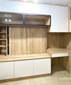 客廳玄關櫃/鞋櫃/衣櫃/儲物櫃/電視櫃/書枱/書櫃, 善用電視櫃的深度增加收納