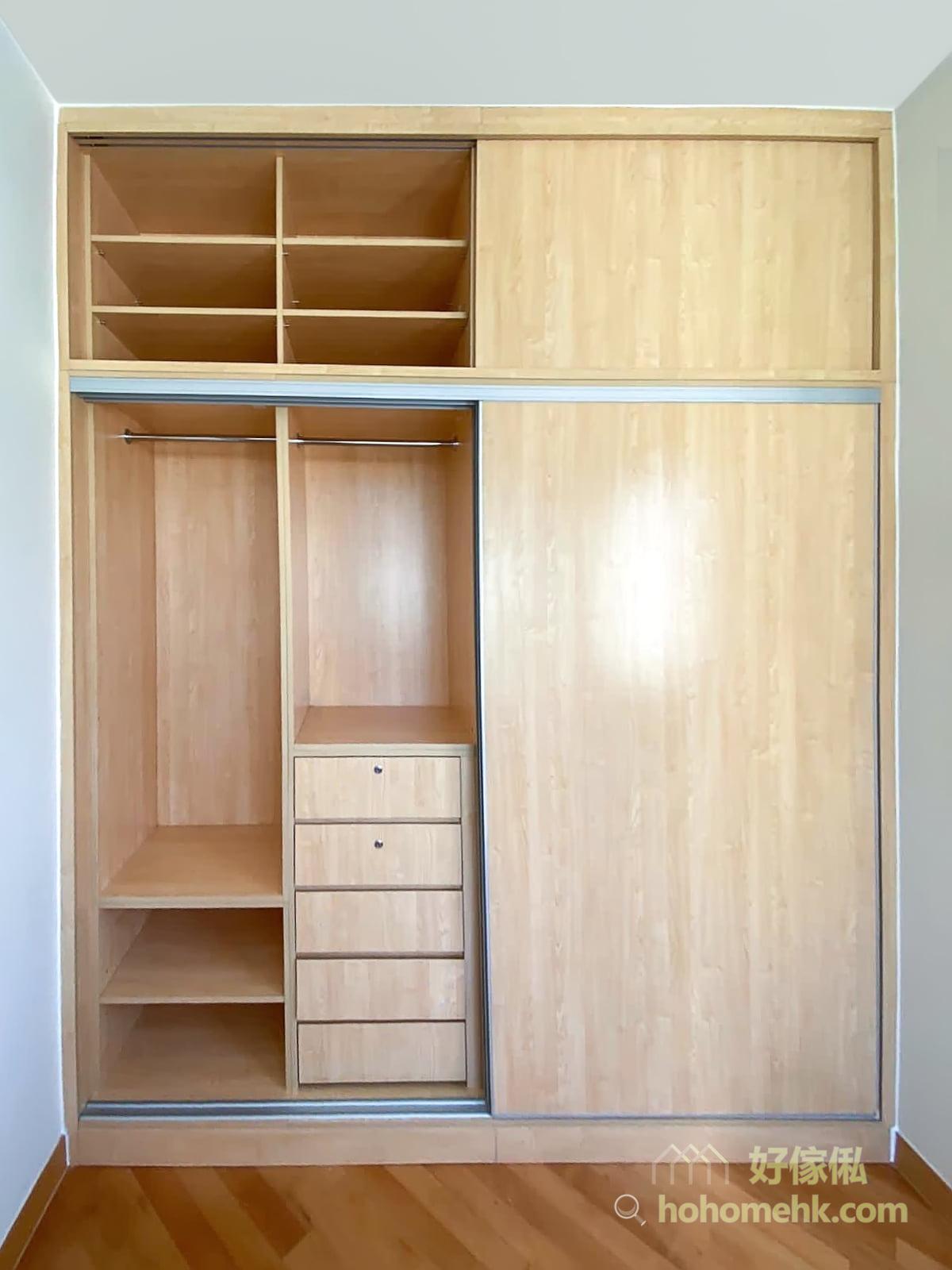 一個實用的衣櫃,最重要的是間隔符合用家的需要。