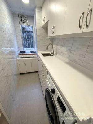 訂製廚櫃前,一定要預先確定好要放在檯面下的電器的尺寸,如洗衣機及焗爐,星盆及喉管的位置也要定好