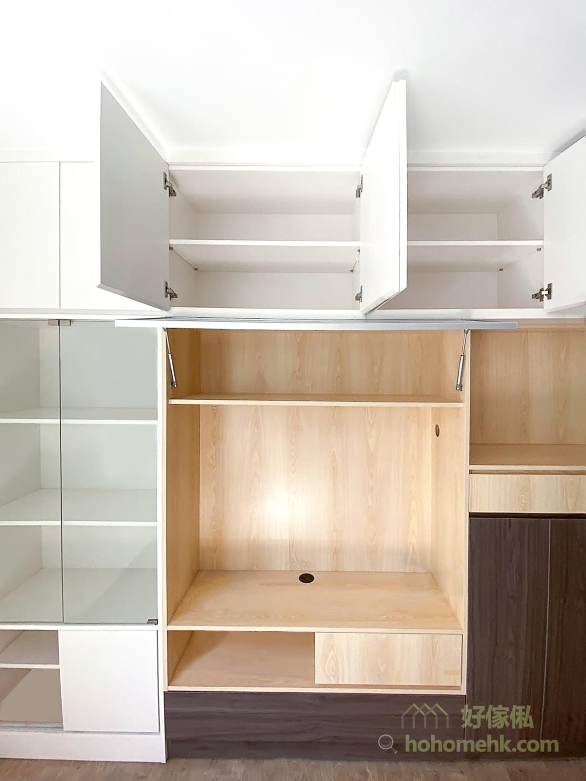客廳電視櫃/組合櫃/C字櫃/儲物櫃,不同配色可以營造不同的家居風格