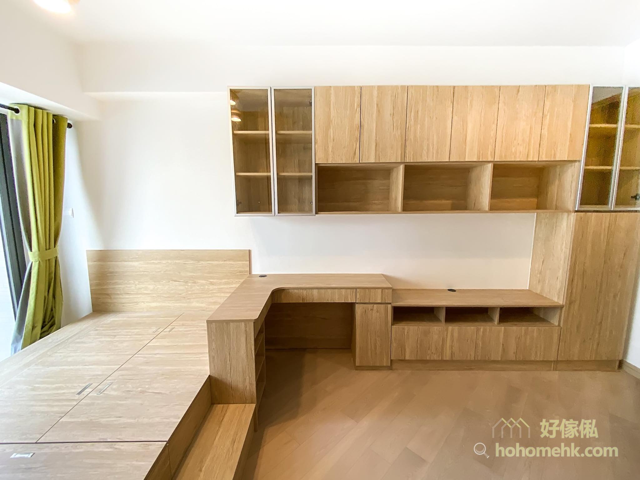 溫馨舒適的開放式客廳兼睡房