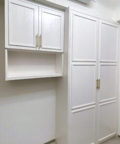 掩門衣櫃的櫃門可以做到立體線條的設計,更容易打造空間的整體風格