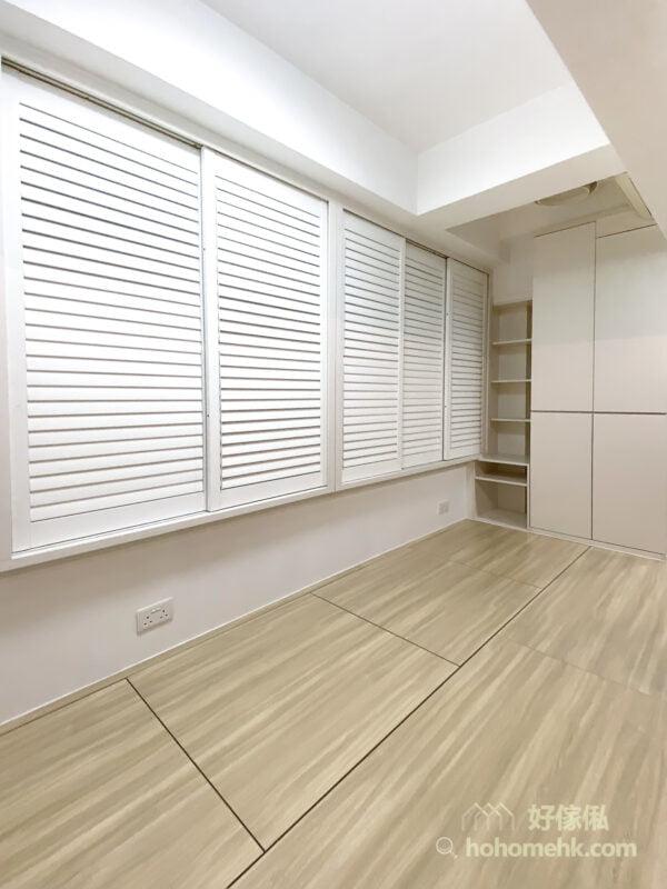 木百葉窗簾不必特別費心照顧就能維持良好清潔的使用狀態