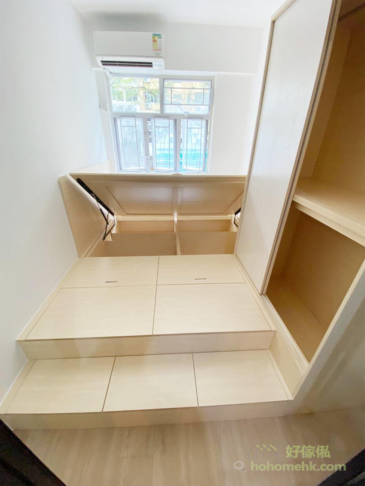 無印風代表著日式的簡樸精神,故不需要華麗造型的傢俬,以簡單實用、淺木色款式為主,形狀、線條都是直線比較好