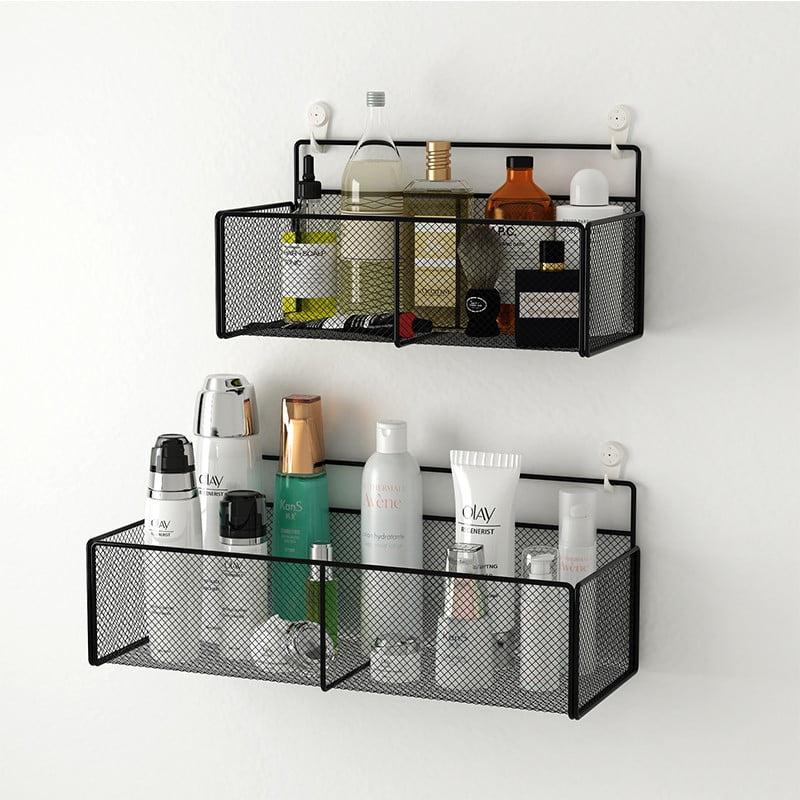 半身櫃上方牆身可塑性高,把置物籃吊掛起來,可以把雜物分門別類擺放,不僅讓空間不雜亂,還平添一種趣味感