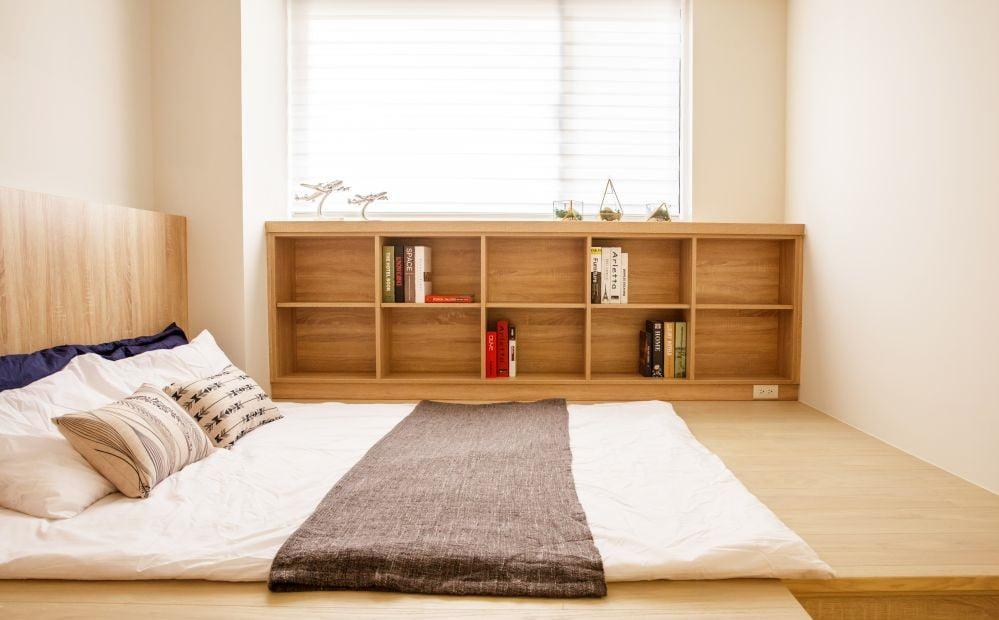 地台床除了可以放床褥外,還可以鋪成日式榻榻米,配合不同風格的需要