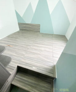 全房採用榻榻米的設計,充滿著和室的感覺,營造出更自由無拘束的氛圍