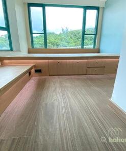 地台的高度往往都會把原來的電制位遮擋掉,可以選擇將電制改位,拉到地台邊,不用在地台揭板上開電線孔,方便使用又容易打理