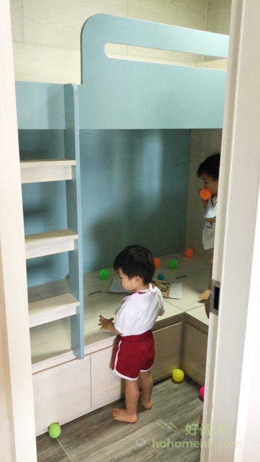 E1實木細芯夾板論穩固度和安全度都非常出色,防潮防蟲不易變形,加上E1生態板級別的超低甲醛含量,不用油漆上色所以沒有難聞的氣味,對孩子的健康更有保障