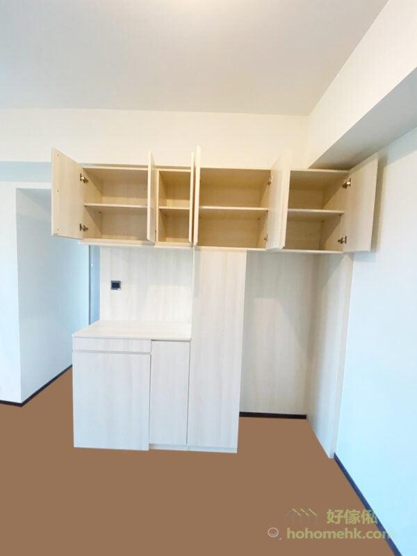 只要在飯廳區域劃出一個角落,雪櫃都會有屬於它的空間了