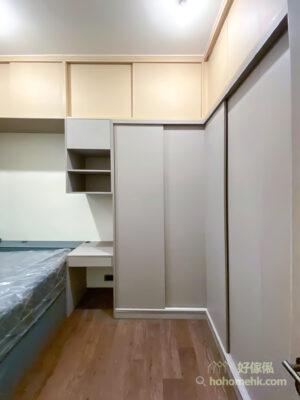以顏色劃分不同區域,可以免去擺放實體間隔的空間,又能夠在視覺上將空間整齊劃分,用家使用時也更容易找到儲物的位置