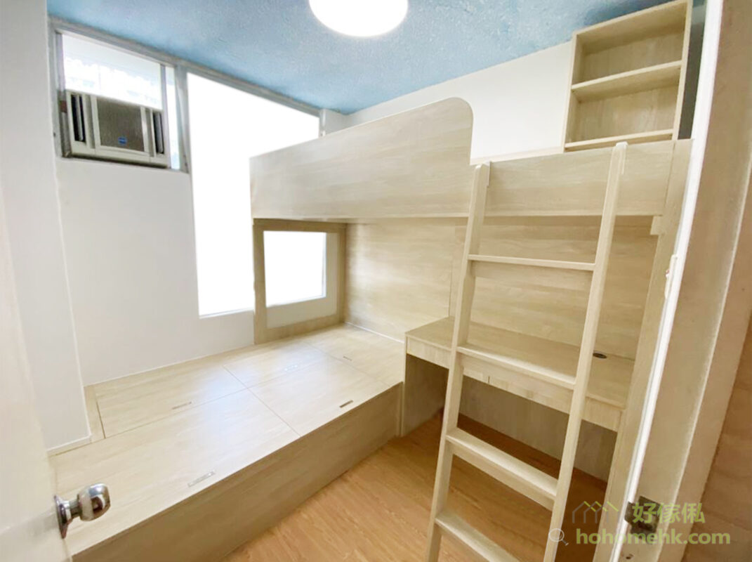 捨棄衣櫃,睡床和書枱、梳妝枱就可以更彈性調整位置,讓動線和格局更俐落簡潔